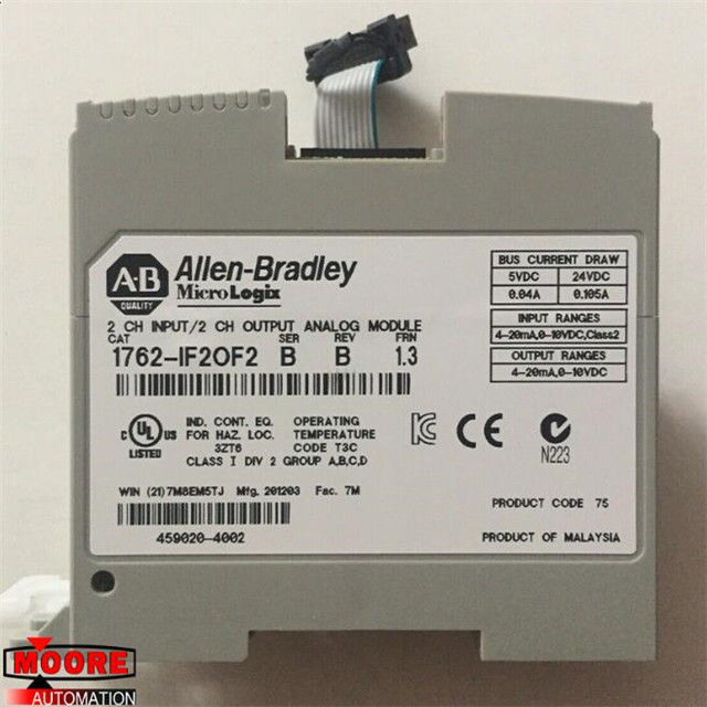1762-IF20F2 1762IF20F2  Allen Bradley MicroLogix 1200 series module. It is an Analog Input-Output (I/O) module.